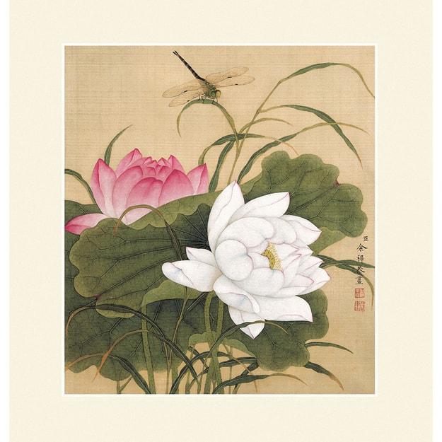 Inkwash White And Pink Buddha Lotus Flower Painting Yamibuy