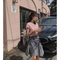 PRINSTORY 2019 Spring/Summer Design Style Skirt Long/Grey/S