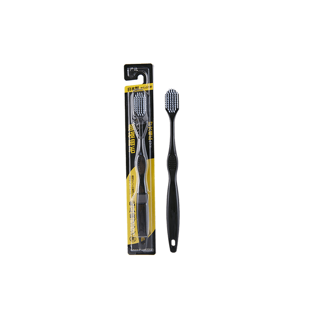 Product Detail - Lifease【Made in Japan】Banister Adult Toothbrush 2 Packs (Black) - image  0