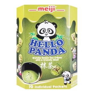 日本MEIJI明治 熊猫抹茶夹心饼干 258g