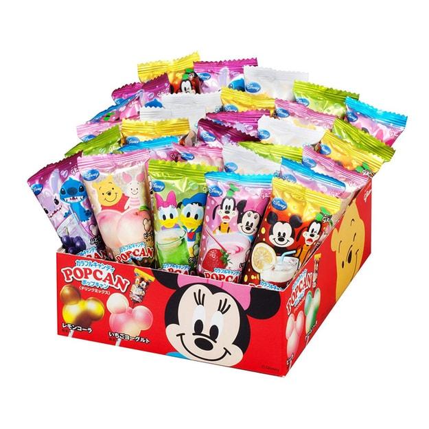 商品详情 - 【日本直邮】Glico固力果 米奇头迪士尼棒棒糖果汁味 蓝色限量款 1盒30支 (口味图案随机发货) - image  0