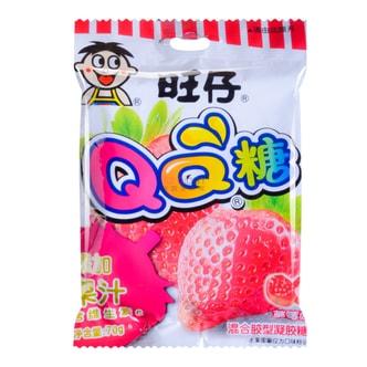 台湾旺旺 旺仔QQ糖 草莓味 混合胶型凝胶糖果 70g