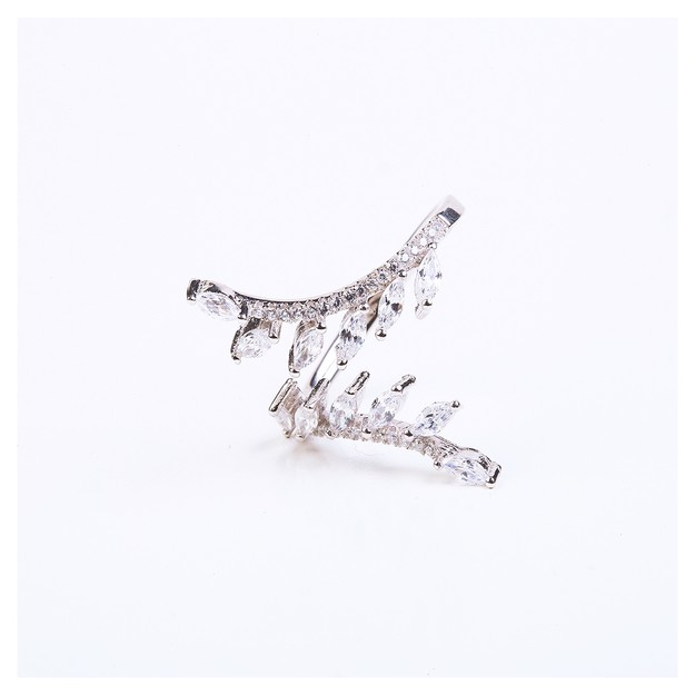 ARIEL Sterling Silver Little Leaf Ring