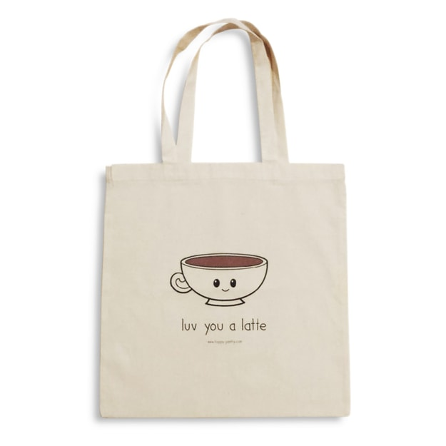 Product Detail - HAPPY PANTRY Mr. Latte Luv You a Latte Tote Bag - image 0