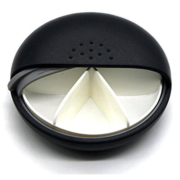 商品详情 - PUTWO药盒黑色6分格塑料药盒 - image  0