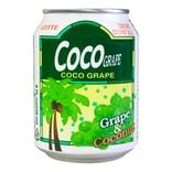 韩国LOTTE乐天 COCO GRAPE 粒粒椰果葡萄汁饮料 238ml
