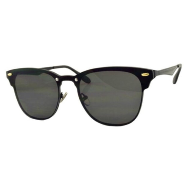 Product Detail - RETRO POP Fashion Sunglasses 8185 Black Frame/Grey Lens - image  0