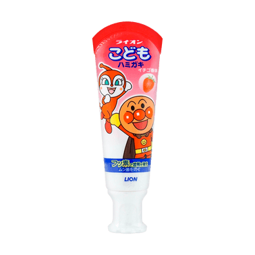 Japan Lion Kid's Toothpaste #Strawberry 40g