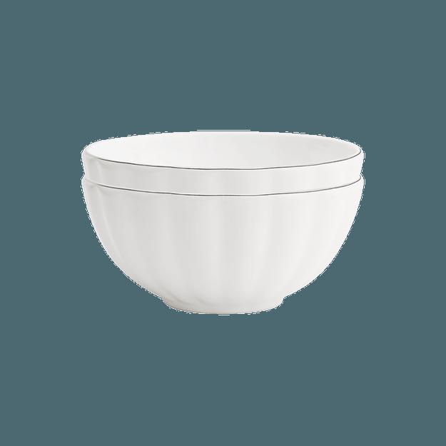 商品详情 - 网易严选手工真金描边 骨瓷餐具16件套 4.5寸饭碗*2 - image  0