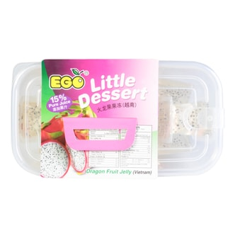 EGO Little Dessert Rock Sugar Dragon Fruit Jelly 12pc