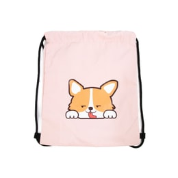 NAYOTHECORGI Corgi Water Proof Drawstring Sports Bag #pink#