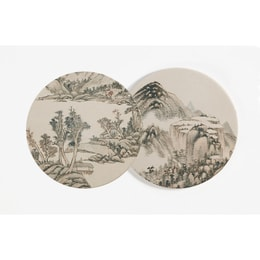 THE PALACE MUSEUM Cup Mat #Mountains in Clouds 2pcs