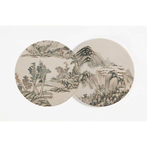 Product Detail - THE PALACE MUSEUM Cup Mat #Mountains in Clouds 2pcs - image 0