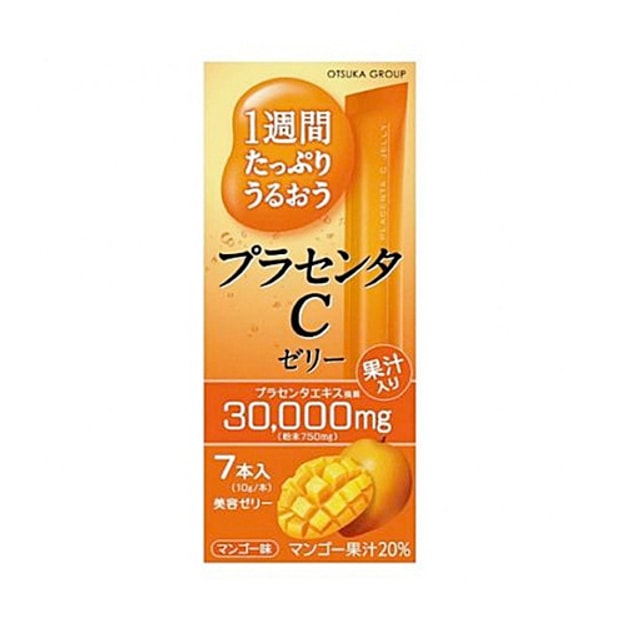 OTSUKA GROUP Skin C Collagen Jelly  Mango 7 Pieces