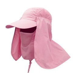 TIMESWOOD Outdoor Sun Hat Men's Fishing Hat Summer Riding Speed Dry Cap Breathable UV Visor Hat  Pink 1PC