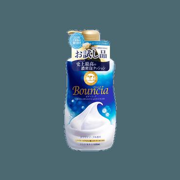 日本COW牛乳石鹼共进社 BOUNCIA浓密泡沫沐浴乳 牛奶花香 400ml 限定惊喜尝试装