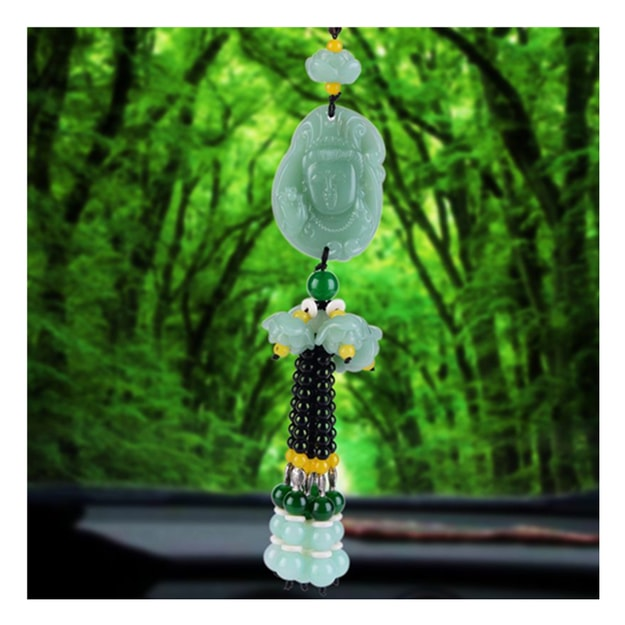 Product Detail - RAMBLE Car Pendant Crystal Gourd Pendant Hanging Ornament Auto Interior Rear View Mirror Decor Dangle Trim GY 1 pcs - image 0