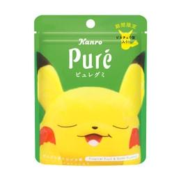 KANRO Pikachu Gummy Tropical Fruit & Soda Flavor 56g