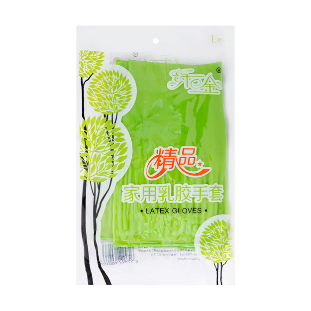 Product Detail - Hongfu Latex Household House Cleaning Gloves L size - image 0