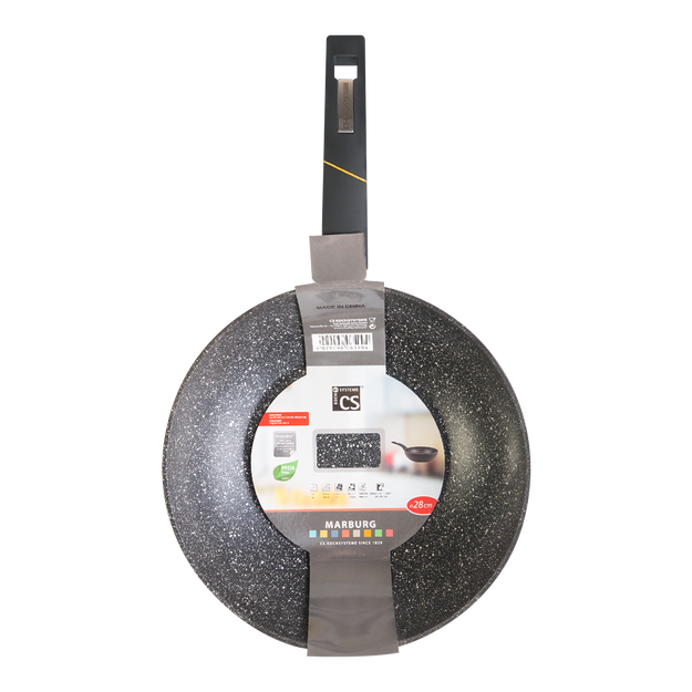 Product Detail - CS KOCHSYSTEME Marburg Forged Non Stick Wok with White Dot 28x7.5cm Induction Ready - image 0