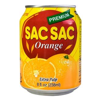 韩国LOTTE乐天 SAC SAC 粒粒VC橙汁饮料 238ml