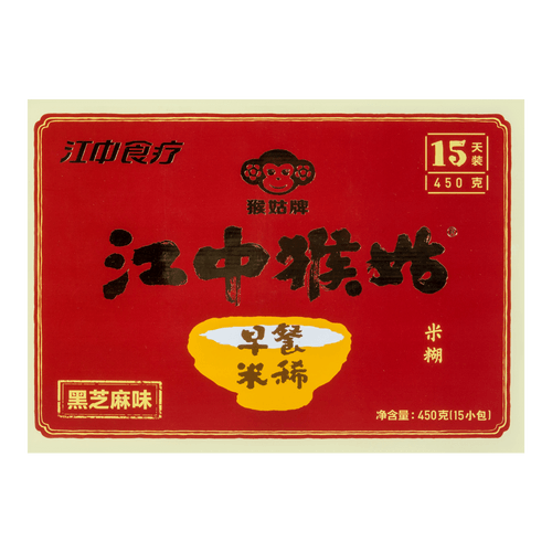 Jiangzhong Hougu Breakfast Rice Cereal (Black Sesame) 450g