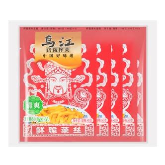 乌江涪陵榨菜 鲜脆菜丝 清爽 80g*5包入