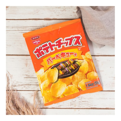 NISSIN Potato Chips BBQ Flavour 55g