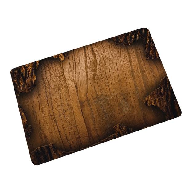 商品详情 - 中国专线直邮 时效5-12天TIMESWOOD 创意橡胶地毯地垫个性欧美客厅吸水防滑卧室楼梯进门门垫 木板圈45cm*75cm1件 - image  0