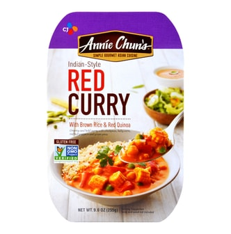 CJ Annie Chun's Indian-Style Red Curry with Brown Rice & Red Quinoa 255g