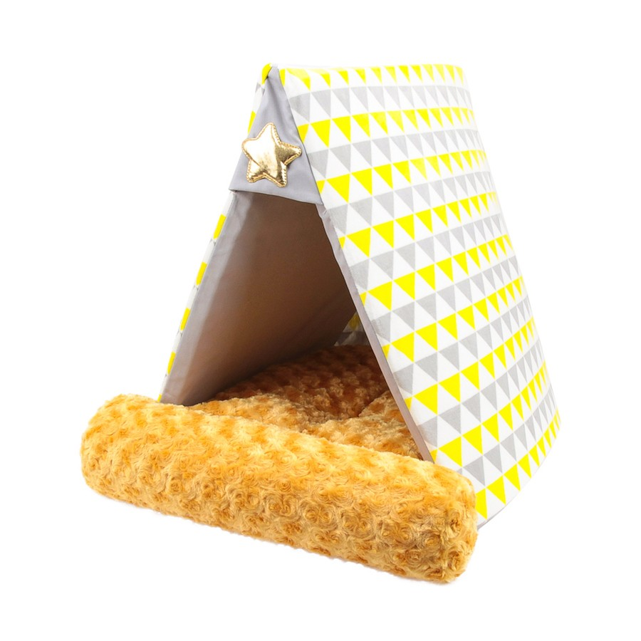 ALPHA DOG SERIES 帐篷型宠物用软垫  #黄色 怎么样 - 亚米网
