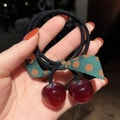 Cinderella selected girl's hair rings ins hollow simple geometry lovely hair rope headdress #Wine red cherry