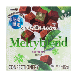 日本MEIJI明治 MELTYBLEND 雪吻抹茶松露夹心巧克力 60g