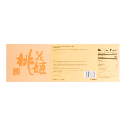 [Online Exclusive] DEEJ EJIAO Hokou Tao Hua Ji Gelatin Cake 300g (Nourishing blood and beauty health food)