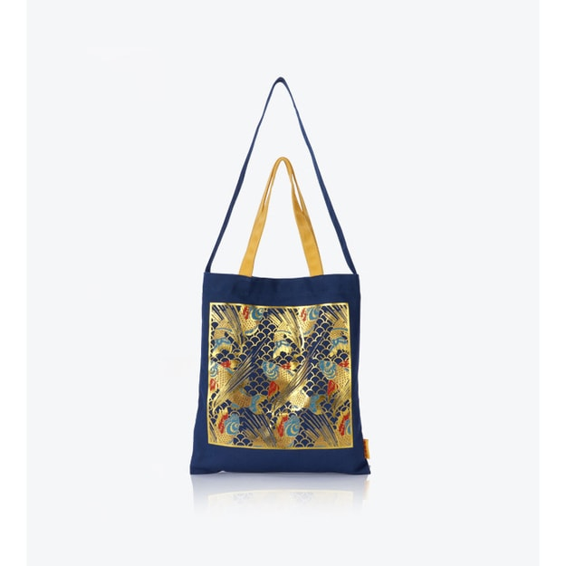 THE PALACE MUSEUM  Canvas Bag Koi Fish Jumping Waves