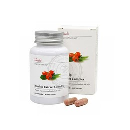 澳洲Unichi 玫瑰果美白养颜精华胶囊 改善肤色 抗黑色素 促进皮肤细胞再生 60粒 建议配合Unichi胶原蛋白软糖