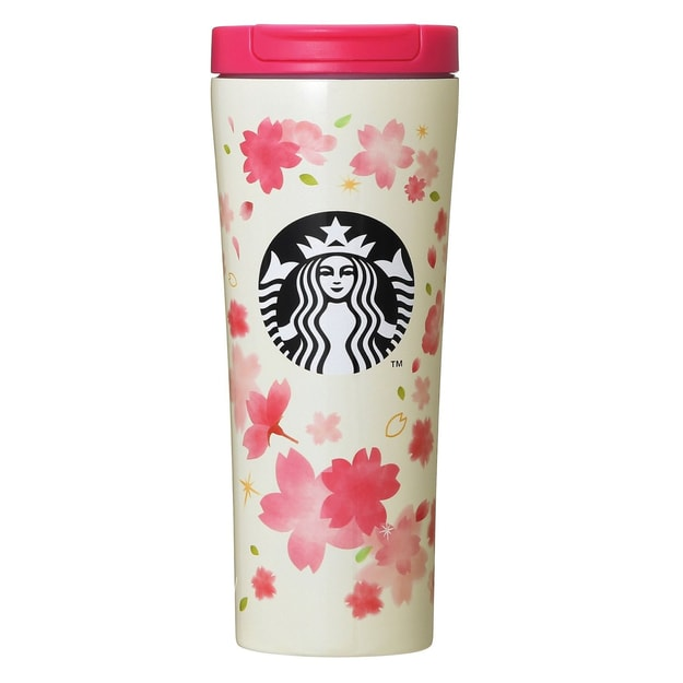 STARBUCKS White Petal Stainless Steel Following Cup 355ml