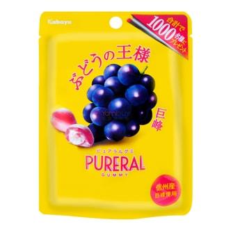 日本KABAYA 巨峰葡萄夹心果汁感QQ软糖 50g 含胶原蛋白1800mg