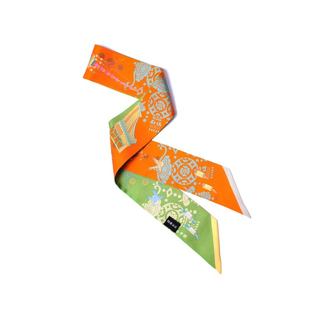 Product Detail - THE PALACE MUSEUM Silk Ribbon # Splendid Apple Green - image 0