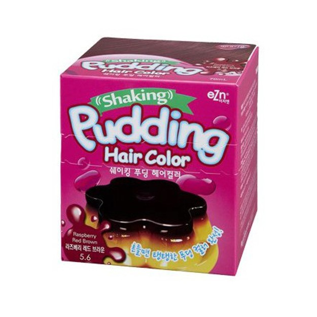 Product Detail - DONGSUNG PHARM EZN Shaking Pudding Hair Color 5.6 #RaspberryRedBrown 70ml - image 0