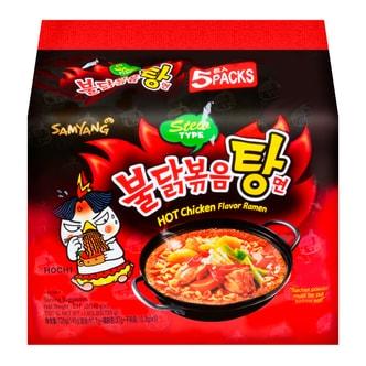韩国SAMYANG三养 韩版超辣鸡肉味汤面 5包入