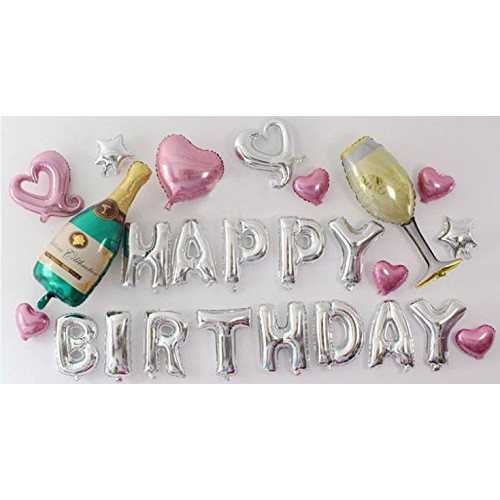 putwo birthday balloons 16 inch foil balloons happy birthday