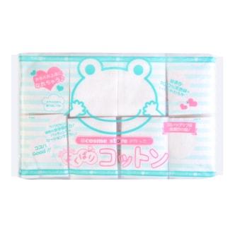 日本COSME STORE 纯天然无漂白青蛙化妆棉 120枚入