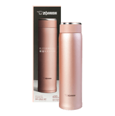 ZOJIRUSHI Stainless Steel Thermal Bottle Rose Gold 600ml SM-LB60