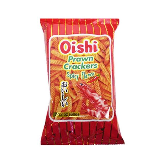 商品详情 - OISHI上好佳 鲜虾条 辣味 60g 童年回忆 - image  0