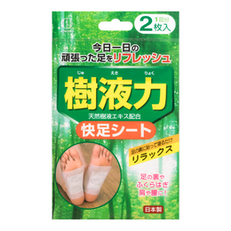 KOKUBO Natural Tree Amber Detox Foot Patch 1 Pair