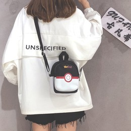 YINGNI Japan Sstyle Pokemon Handbag Purple