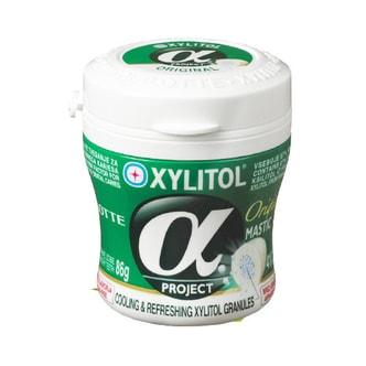 韩国LOTTE乐天 XYLITOL Alpha木糖醇口香糖 原味 瓶装 86g