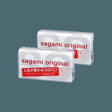 【两盒装】日本SAGAMI 幸福002 超薄安全避孕套 5片入*2