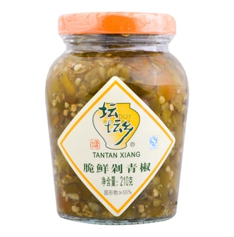 TANTANXIANG Green Pickled Chili Peppers 210g
